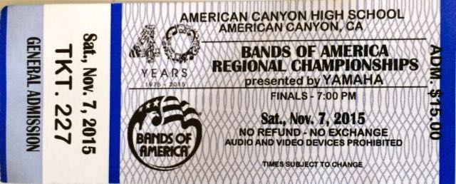Bands of America General Admission Ticket
